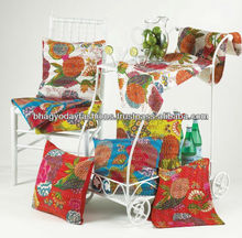 Indian Decorative Home Decor Work Kantha Decorative Cushion Covers Vintage Kantha