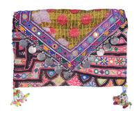Hand Embroidered Squins Work Ladies Handbag / Purse / Clutch
