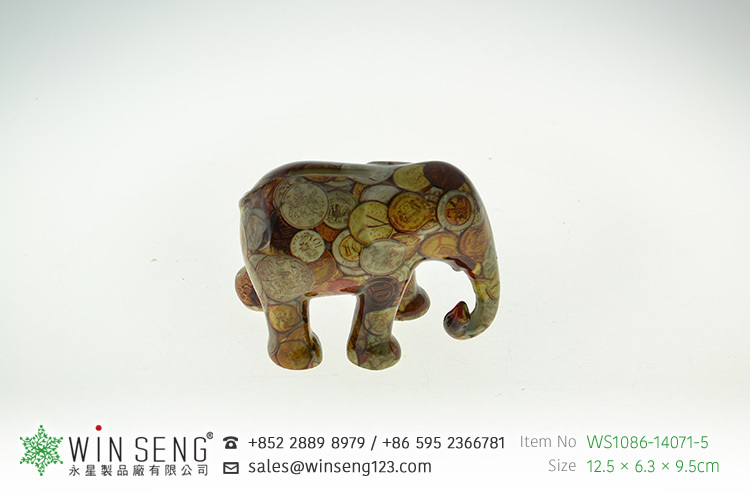 coin collect animal shaped ceramic painted elephant piggy bank