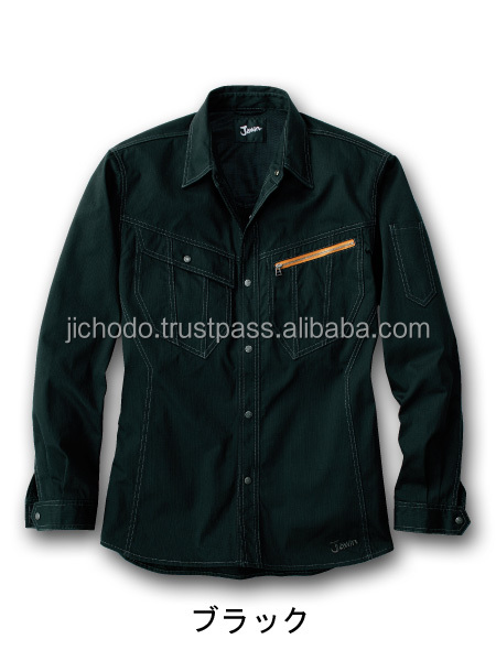 Cotton 100% / Long sleeve work shirt. Made by Japan