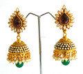Bollywood fashion earring- Long pearl jhumka earring-Indian traditional earrings-Wholesale jhumka earring- online jewelry