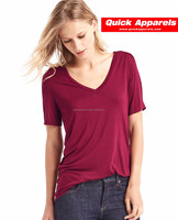 2017 best online shopping clothes women oversized plain o-neck t shirt organic