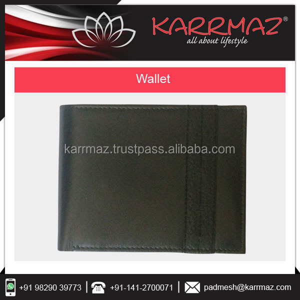 New Black Personalized Multi Function Smart Bifold RIFD Blocking Genuine Leather Men'S Wallet At Factory Price