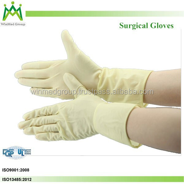 High Quality CE/ISO Approved Disposable Sterilized Latex Surgical Gloves
