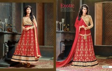 Indian Designer Banflori SIlk Blouse- banglori silk Embroidery Net Dupatta Georgette Lehenga Choli
