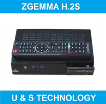 High CPU Air Digital Zgemma H.2S/H2S FTA Satellite Receiver Dual Core Linux OS E2 DVB-S2+S2 Twin Sat Tuners Cable Box.