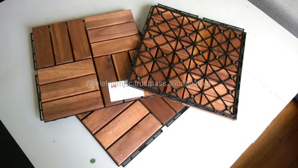 Floor tiles/ Acacia wood deck tile water proof 3000 x 300 x 24mm , easy for installation