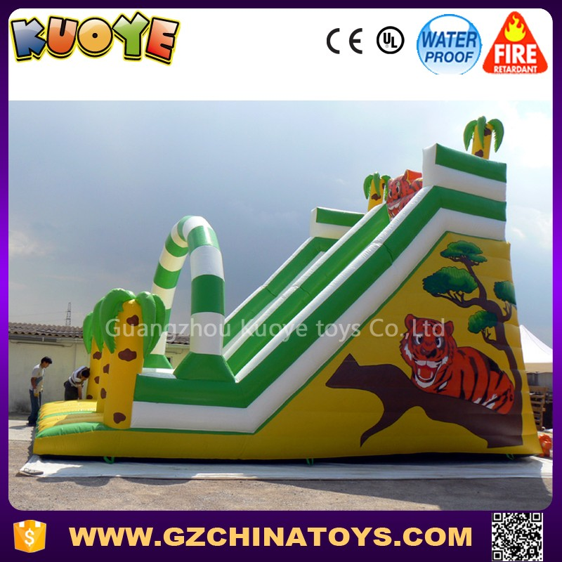 2017 Jungle tiger inflatable commercial slide for hire