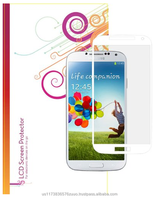 High Definition clear screen protector with white border and 100% bubble free application for Galaxy S4 roocase