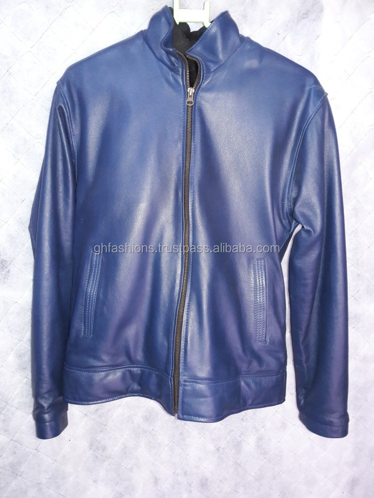 Designer Blue Leather jackets 2017