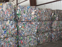 PET BOTTLES (aprox. 95% CLEAR - 5% COLOR) BALES SCRAP - WASTE