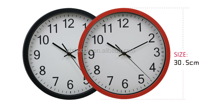 Digital Type Round Sublimation Glass Wall Clock