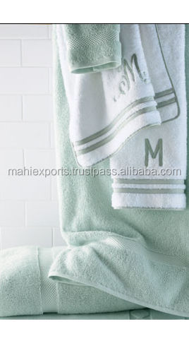 Wholesale plain white 100% cotton terry cloth towel for hotel use