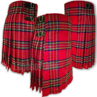SCOTTISH HIGHLAND ROYAL STEWART TARTAN KILT SIZES FROM 26 INCH TO 48 INCH TRI-1847