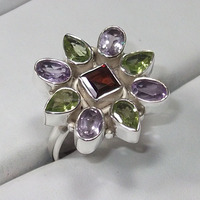 925 sterling silver jewelry, jaipur silver multi color stone rings