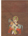 Horseman Warrior Painting Handmade Rajasthani Rajput Maharaja Miniature Portrait water colour Artwork Antique Vintage