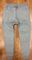 Mens Grey Drop Crotch Jogger Sweat Pants By WELL STUFF Harem Sweatpants