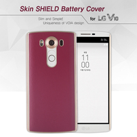 VOIA for LG V10 Skin Shield Genuine Leather battery cover