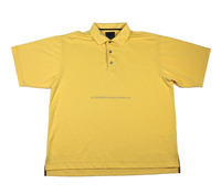 100% Polyeser Micro Custom Men Half Sleeves Plain Yellow Polo Shirt with open sides hem