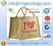 Natural Jute bag in natural handle wholesale tote bags shopping style / made in india / jute bags india, jute bags india
