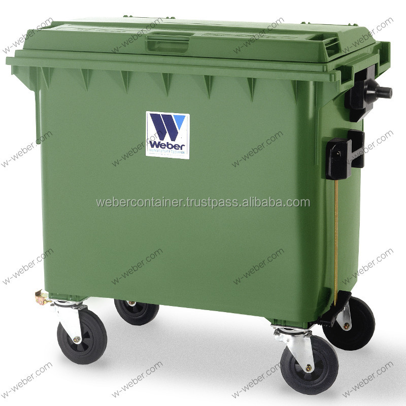 Wheeled Dustbin 660 L, Refuse Container, Waste Collection / Recycling