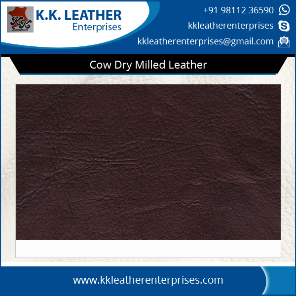 Wide Range of Cow Dry Milled Leather for Garments