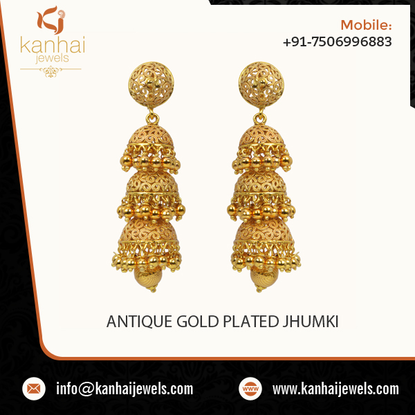 Ethnic Looking Earring Jhumka Design Available in Various Styles
