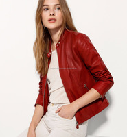 Lipstick Color Woman Women Fashion Leather Jacket
