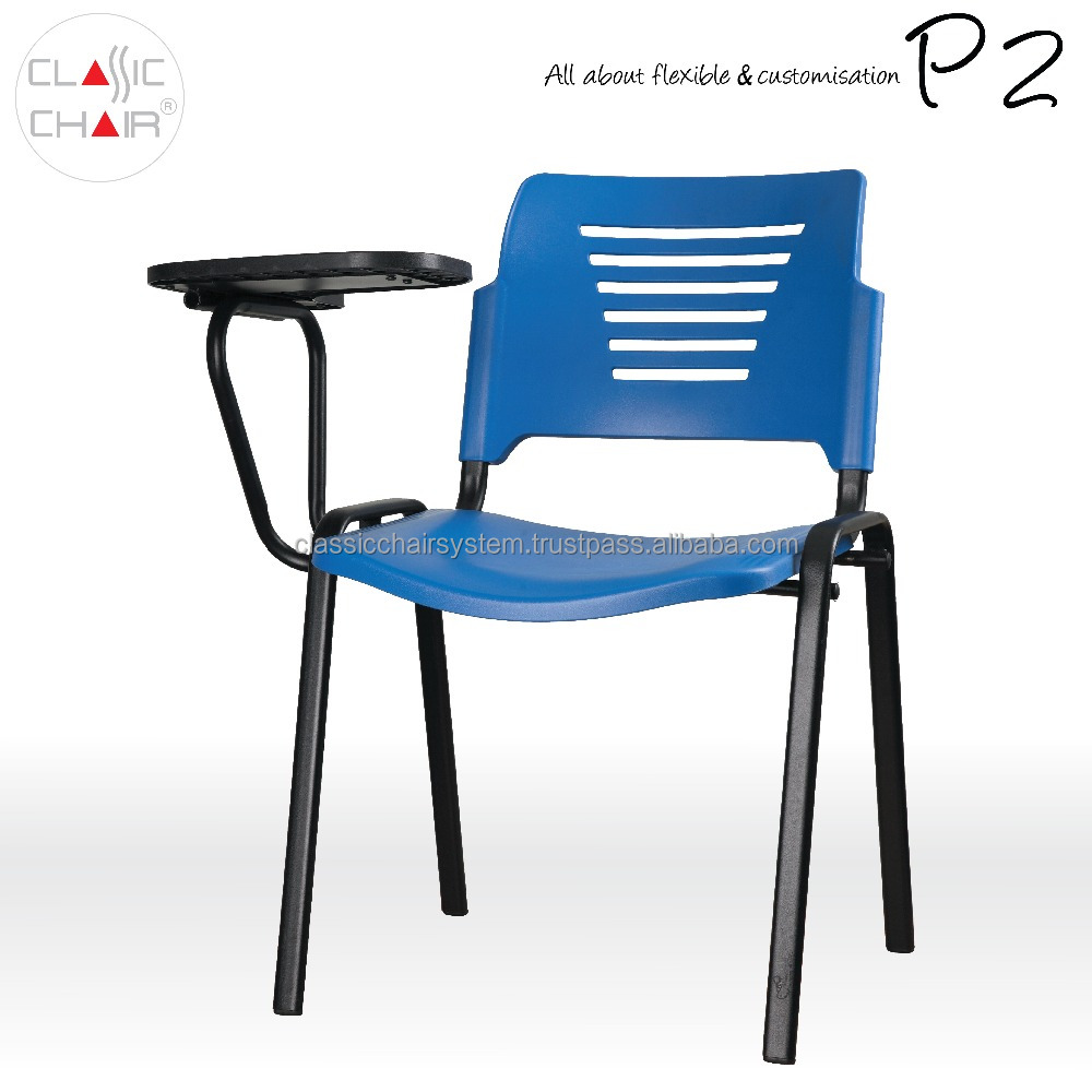 Malaysia Plastic Student Training Chair with Writing Tablet, Conference Chair