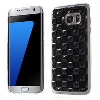 Case For Galaxy S7 edge G 935 3D Bling Gel Crystal Flexible TPU Case for Samsung Galaxy S7 edge G935 Mobile Phone Case- Black