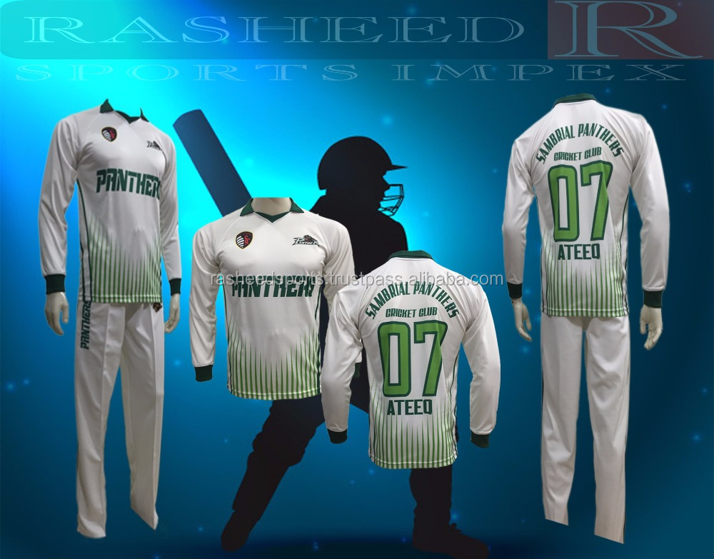 Sublimated Cricket uniform top & trouser