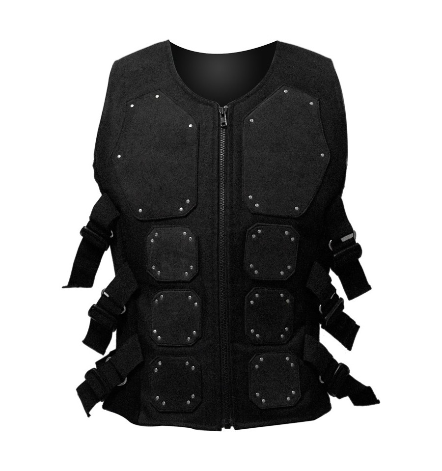 Cotton Cyber-gothic bodice with reptile padding