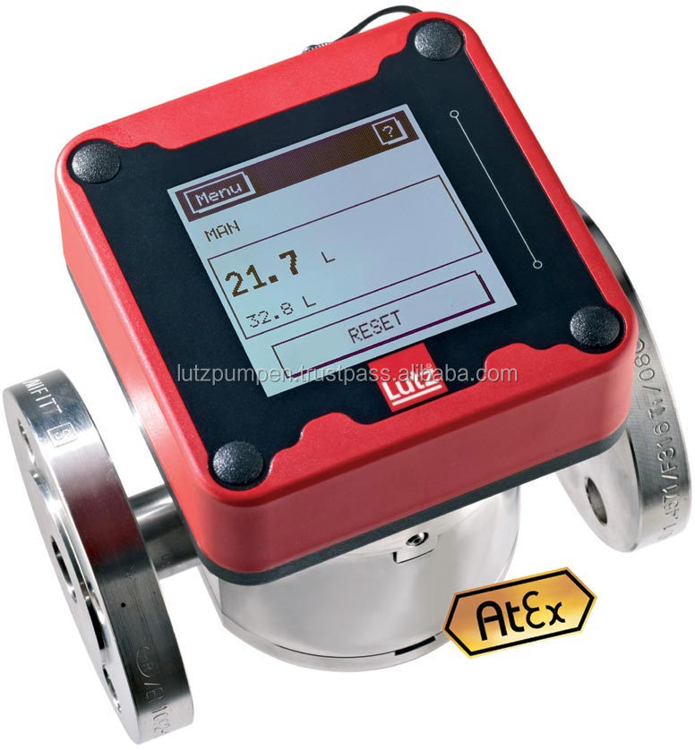 Flow meter HDO 250 Ex SS/SS for highly inflammable liquids - Lutz Flow Meter from Germany - for mineral oil and more