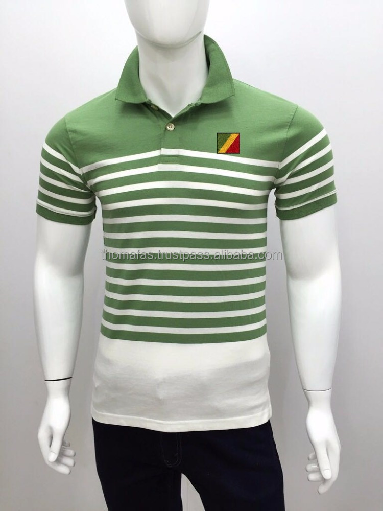 Men's yarn dyed stripe Polos