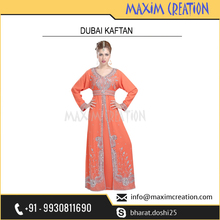 Beautiful Maxi Caftan Dress By Maxim Creation For Daily Use 6141