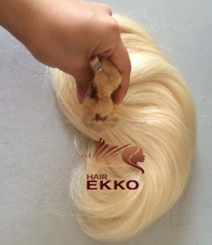 100% human color hair extension blonde color hair in bulk light tone color hair in bulk