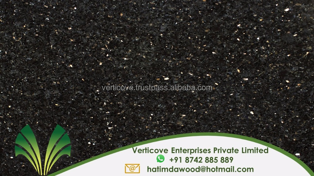 Indian Black Galaxy Granite / Indian black star galaxy granite price