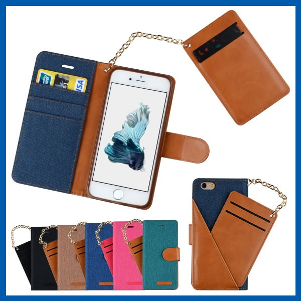 Pu Magnet Wallet Folio Flip Stand Leather Card Case for iphone 6s