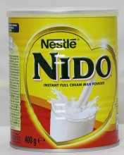 Instant Full Cream Milk Powder 24x400g (Also available 900g, 1800g & 2.5kg) genuinenido