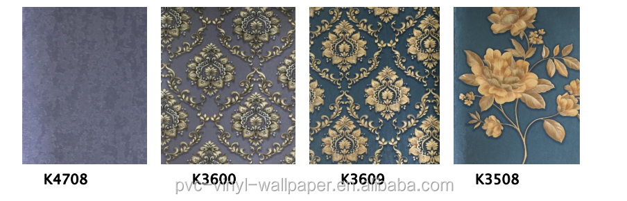 2017 Factory manufacturer newest type special pvc vinyl wallpaper