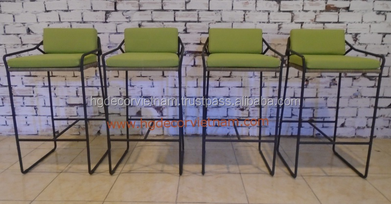 New design rattan bar chair with steel frame, highest poly rattan furniture Vietnam for projects, hotels , resort