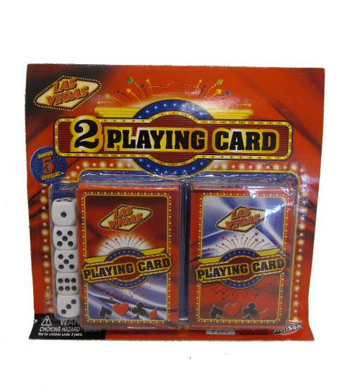 Playing Cards W. 5pc Dice
