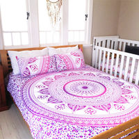 New Mandala Printed 100% Cotton Duvet Cover With Pillow Cover Queen Bedding Set 3PCS