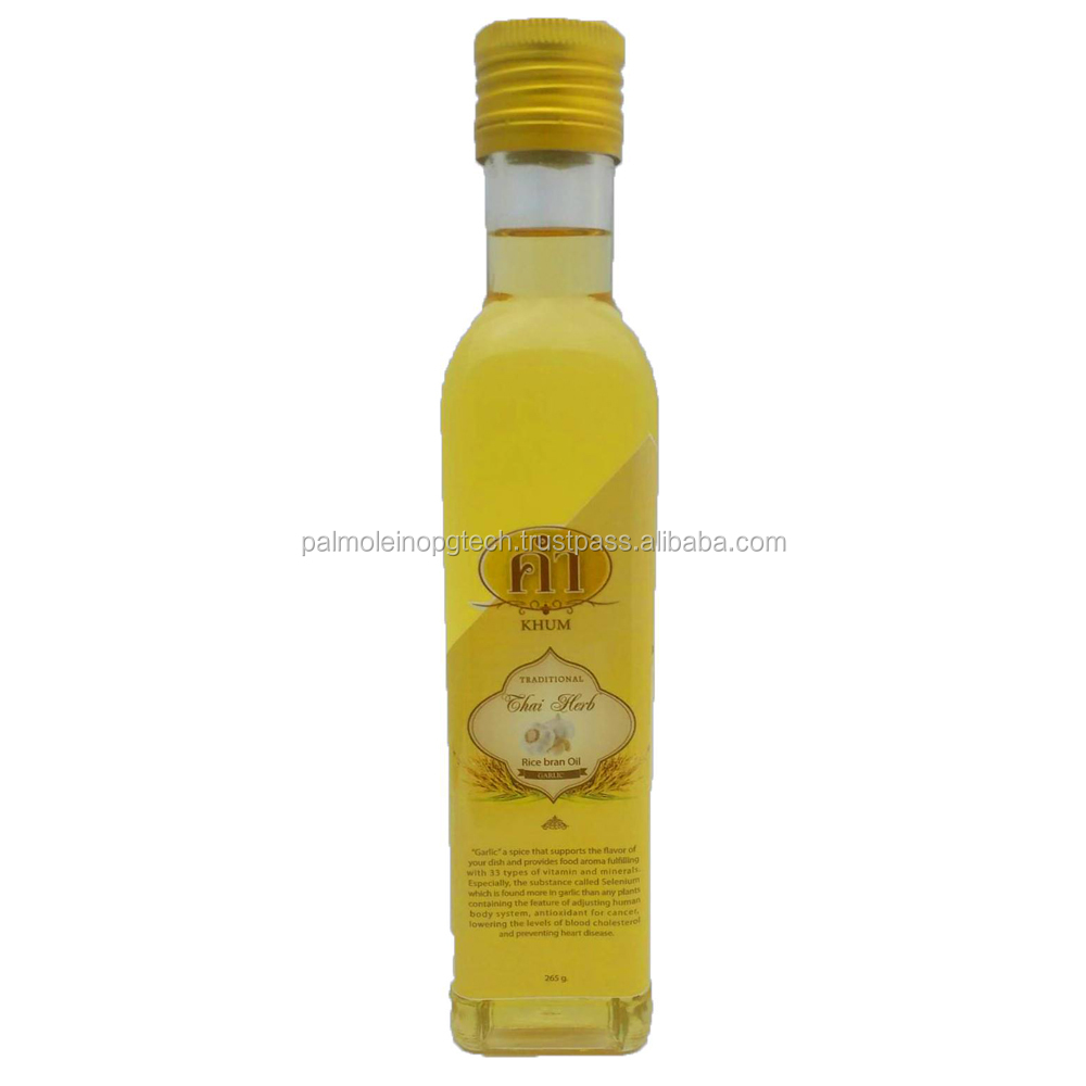 Rice Bran oil with Garlic oil cooking 100% thaialnd product