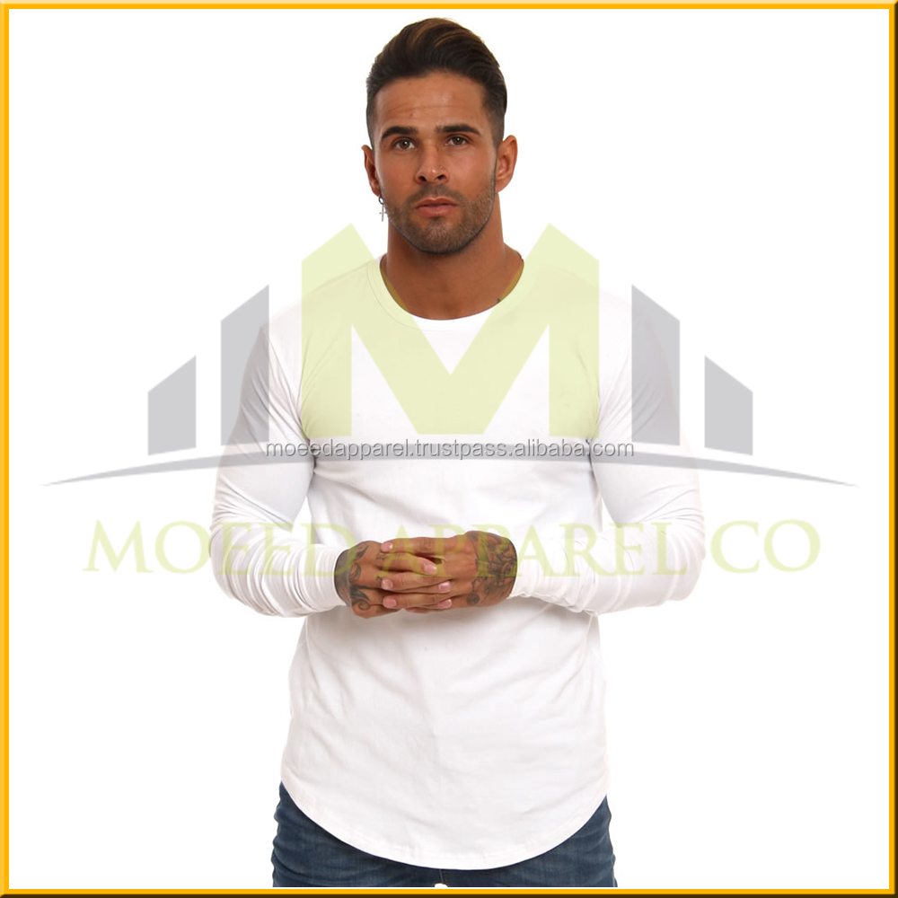 Bulk in Stock,Sublimation Blank long sleeve T shirt,Cotton ,low Price,small MOQ,S-