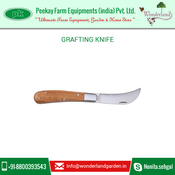 Professional Grade Premium Quality Grafting Knife with Wooden Handle
