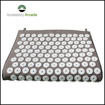 design yoga Nail mats charcoal grey accupressure mat fix button without glue