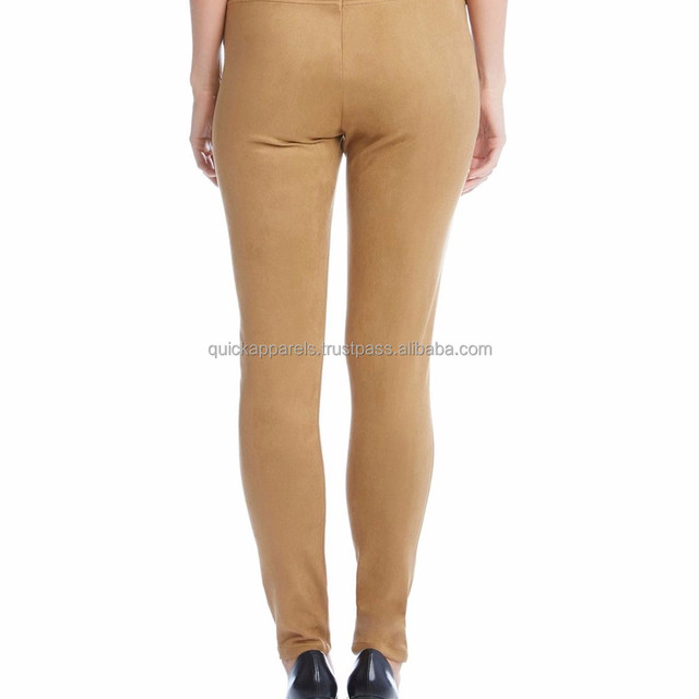 Custom 100% Soft Leather Kinds of Suede Pants for Women/Green Pants Woman Clothes