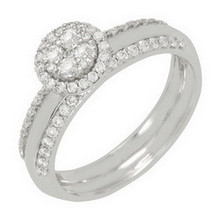 Factory wholesale hot selling semi mount ring with diamond from Thailand