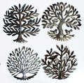 Metal Sculptures Trees of Life with Birds Collectible Art Haitian Wholesale Oil Metal Drum Artwork Resell Hanging Wall Decor
